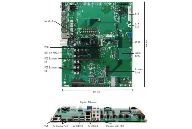 Kontron COMe Eval Carrier T6 connector information