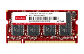 Innodisk DDR Wide Temp SODIMM - Up to 1GB Capacity
