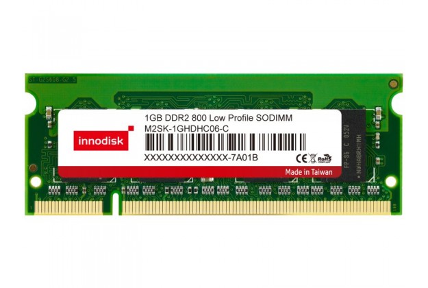 Innodisk DDR2 Low Profile SODIMM - Up to 1GB Capacity
