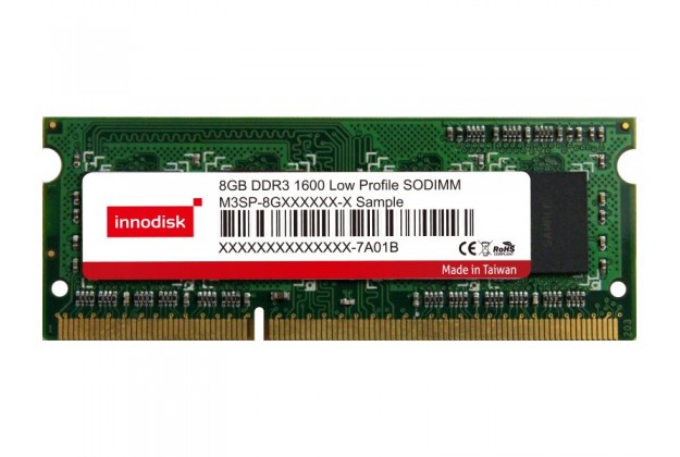Innodisk DDR3 Low Profile SODIMM - Up to 8GB Capacity