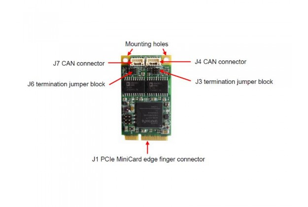 Diamond Systems DS-MPE-CAN2L Board Layout