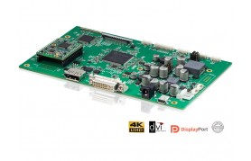 eCOUNT CRTtoLCD-91 - Flat Panel Controller Board, up to 3840×2160, DisplayPort & DVI input