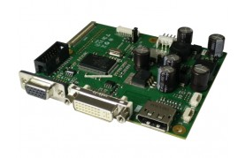 eCOUNT CRTtoLCD-62 - Flat Panel Controller Board, up to 1920×1200, DP, VGA & DVI input