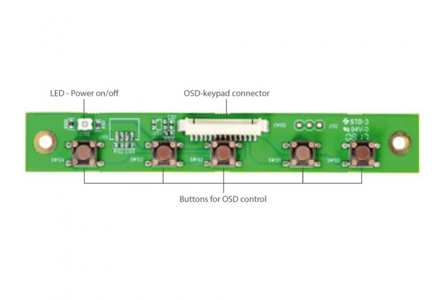 eCOUNT OSD-Panel-Set for CRTtoLCD-71-LP/-61-LP/-91