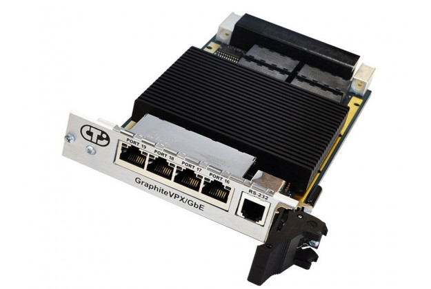 Connect Tech GraphiteVPX/Gbe front view showing connectors