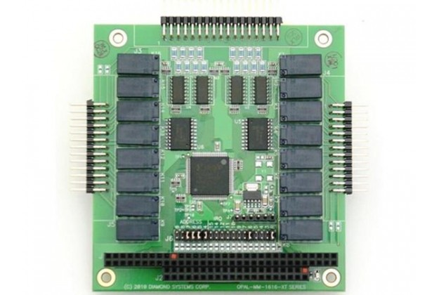 Diamond Systems Opal-MM-1616 - Opto In + Relay Out PC/104 Module
