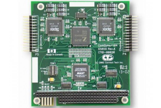 Connect Tech ComSync/104 - Two Port Synchronous PC/104 Serial Card