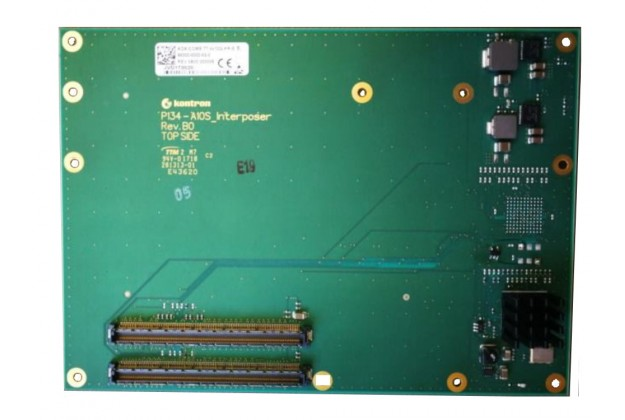 Kontron A10S interposer SFP+ with PHY card