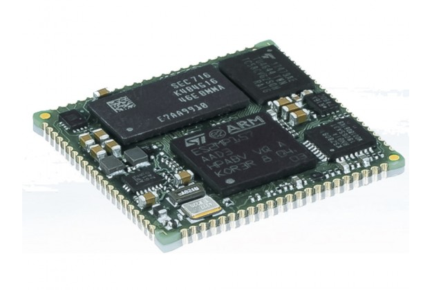 Kontron SOM-SL STM32MP157 - Triple Core System On Module angled view