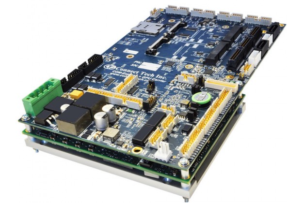 Connect Tech COM Express + GPU Embedded System angled view